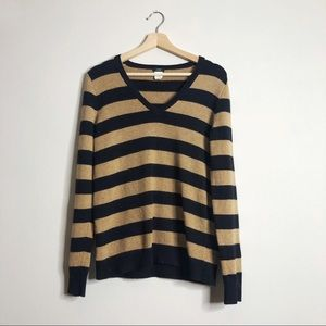 J. CREW Wool Cashmere Blend Striped Sweater Small